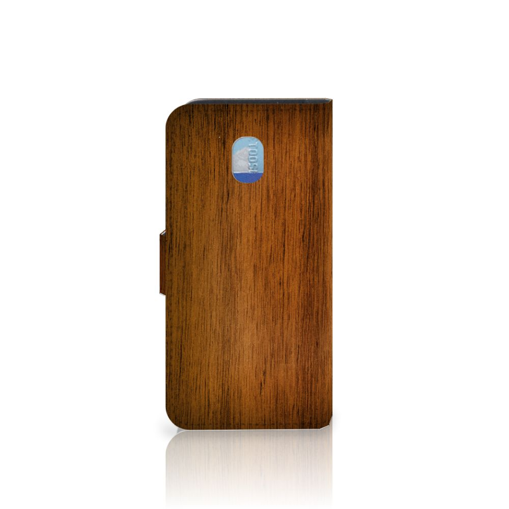 Samsung Galaxy J3 (2018) Book Style Case Donker Hout