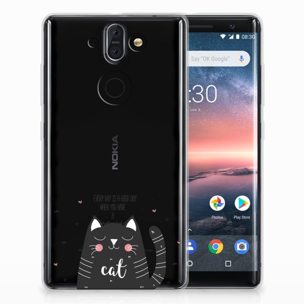 Nokia 9 | 8 Sirocco TPU Hoesje Design Cat Good Day