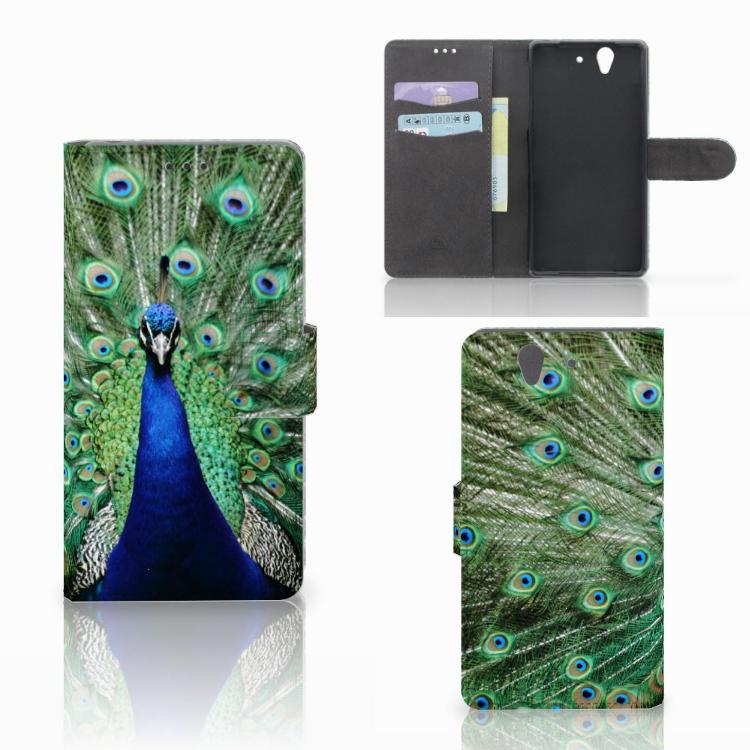 Sony Xperia Z Telefoonhoesje met Pasjes Pauw