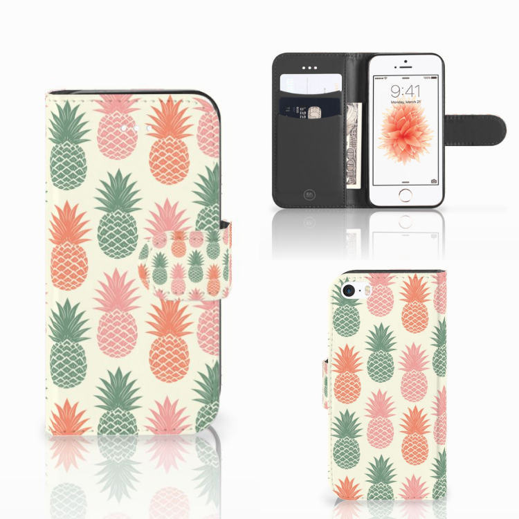Apple iPhone 5 | 5s | SE Book Cover Ananas
