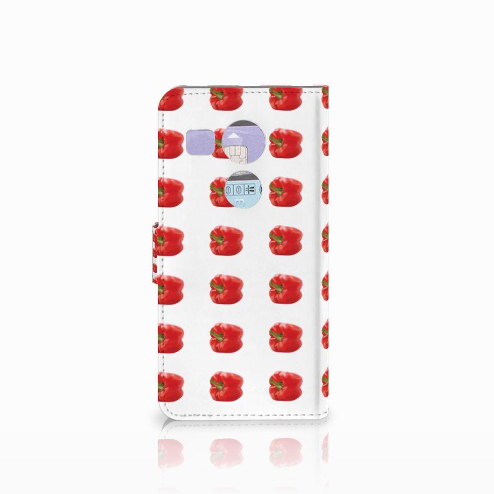 LG Nexus 5X Book Cover Paprika Red