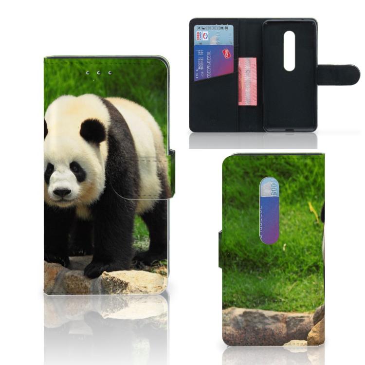 Motorola Moto G 3e Generatie Telefoonhoesje met Pasjes Panda