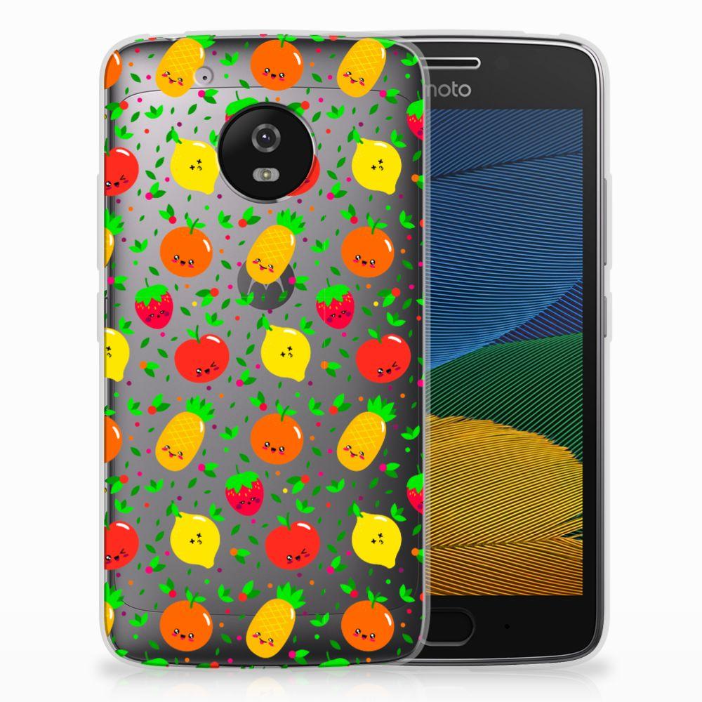Motorola Moto G5 Siliconen Case Fruits