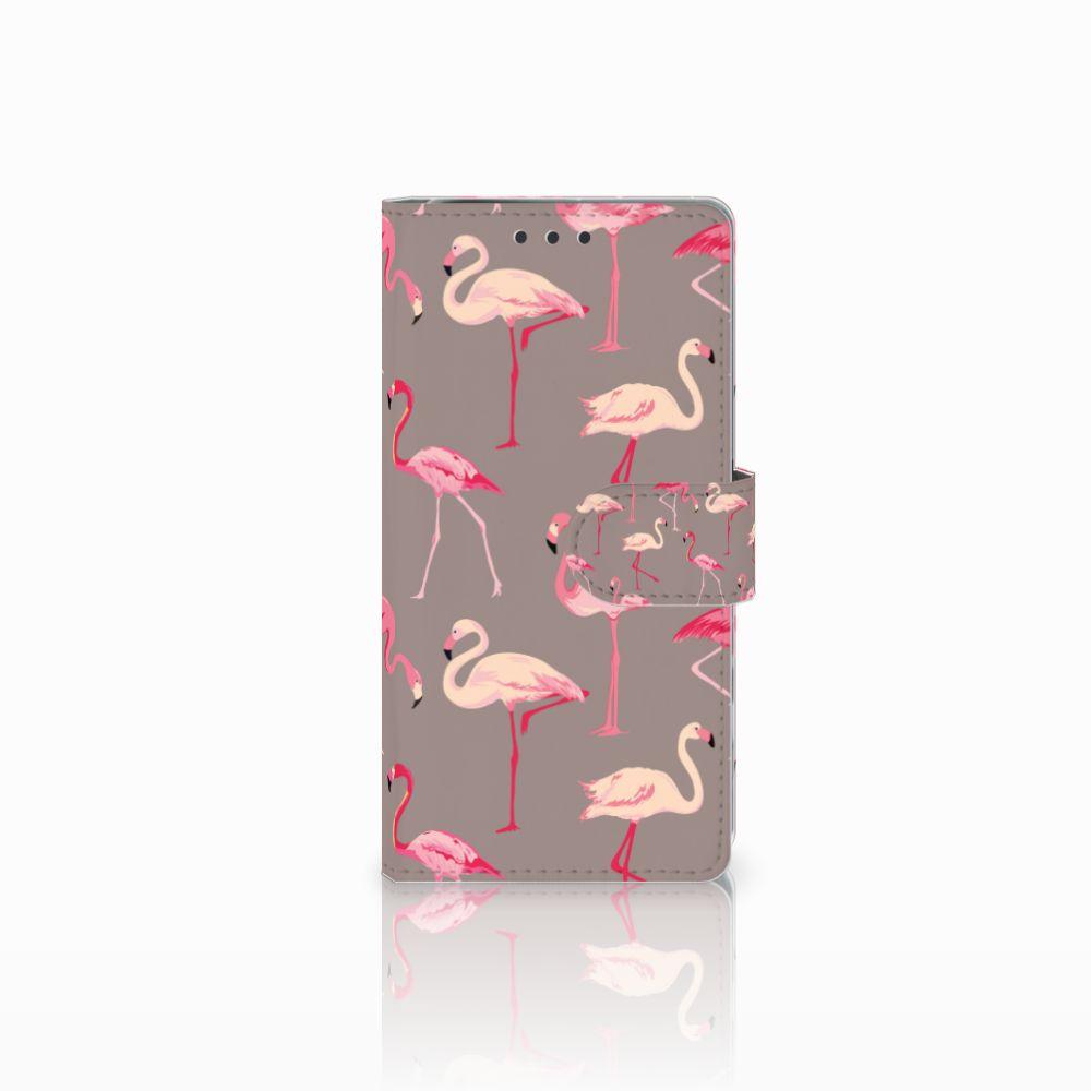 Sony Xperia X Performance Telefoonhoesje met Pasjes Flamingo