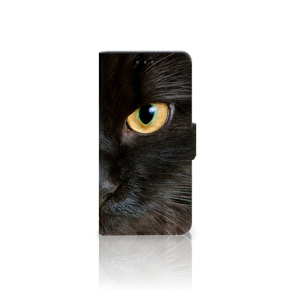 Samsung Galaxy J5 2017 Uniek Boekhoesje Zwarte Kat