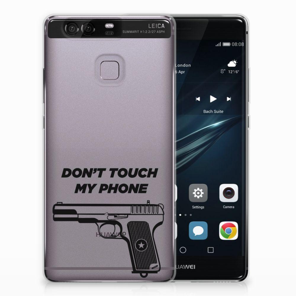 Huawei Ascend P9 Uniek TPU Hoesje Pistol DTMP