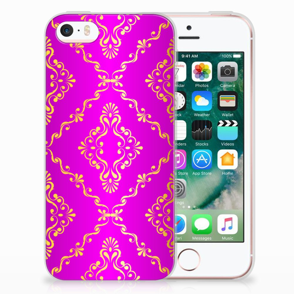 Apple iPhone SE | 5S Uniek TPU Hoesje Barok Roze