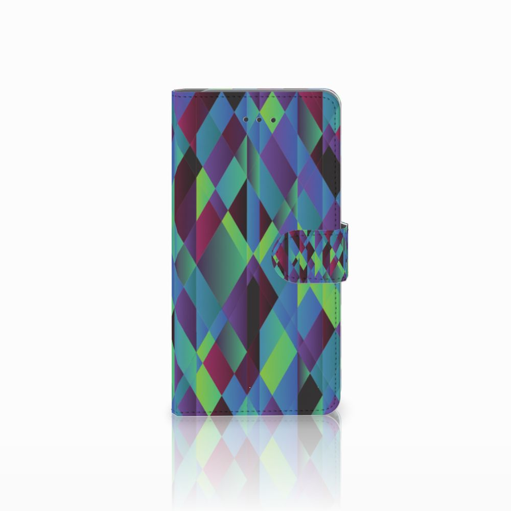 Samsung Galaxy J7 (2018) Bookcase Abstract Green Blue