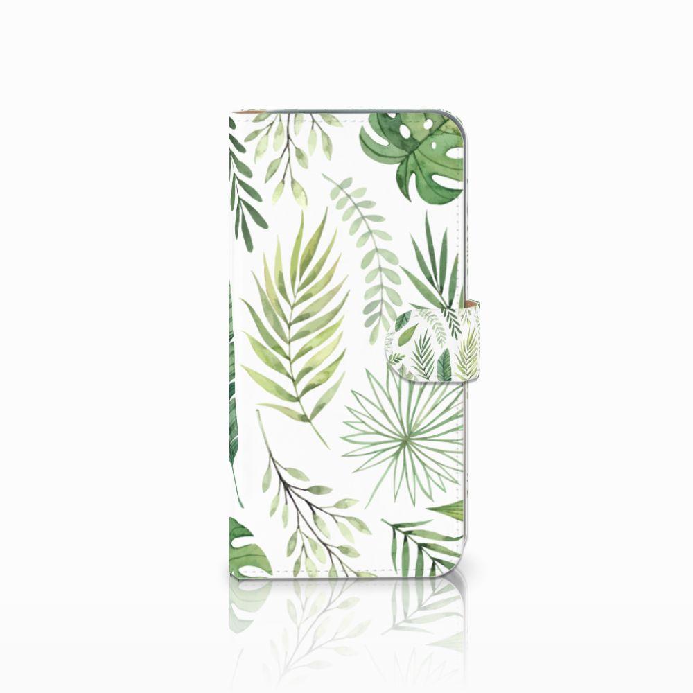 HTC Desire 10 Pro Uniek Boekhoesje Leaves