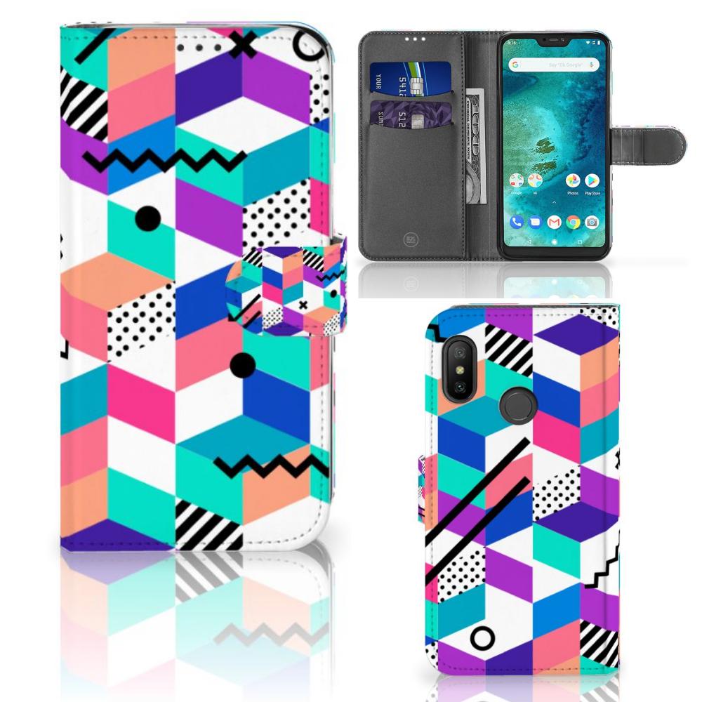 Xiaomi Mi A2 Lite Bookcase Blokken Kleurrijk