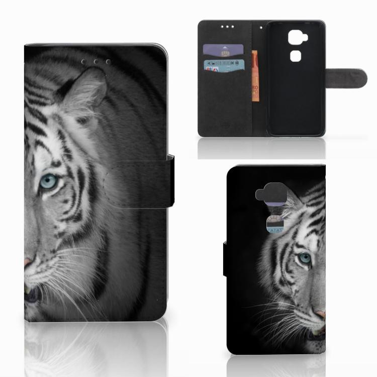 Huawei G8 Telefoonhoesje met Pasjes Tijger