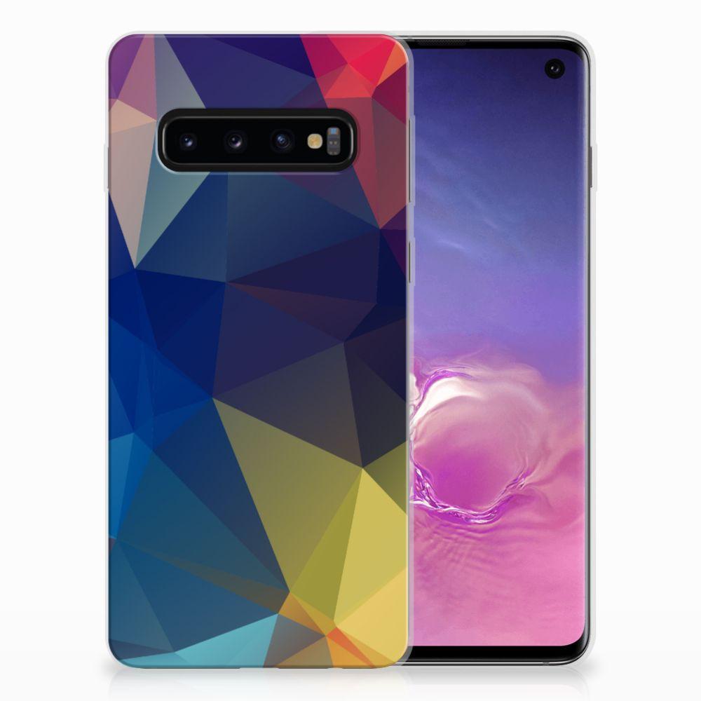 Samsung Galaxy S10 TPU Hoesje Polygon Dark