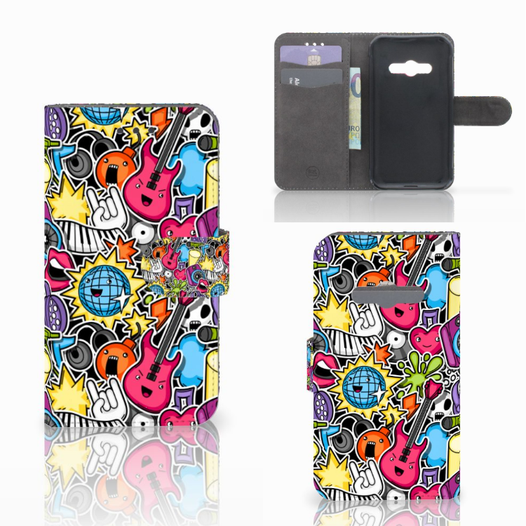 Samsung Galaxy Xcover 3 | Xcover 3 VE Wallet Case met Pasjes Punk Rock