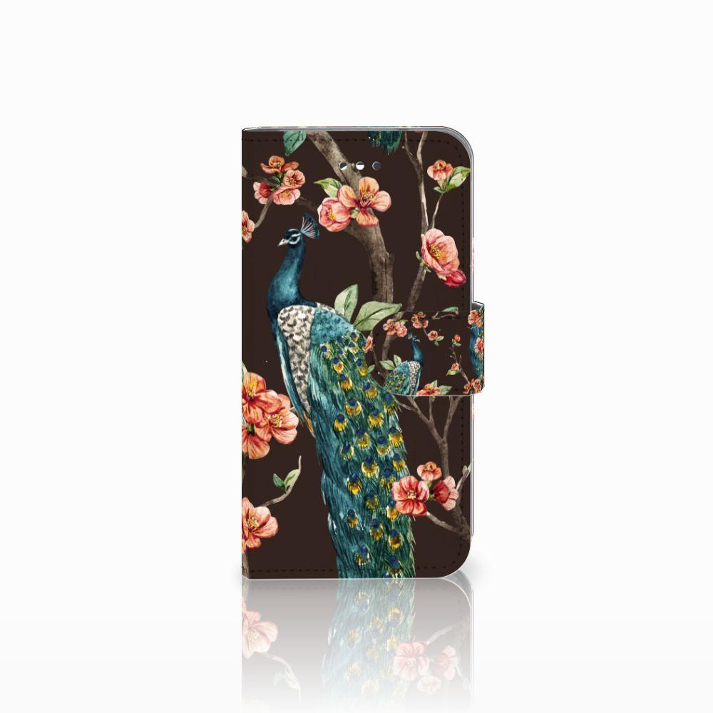 LG X Screen Boekhoesje Design Pauw met Bloemen