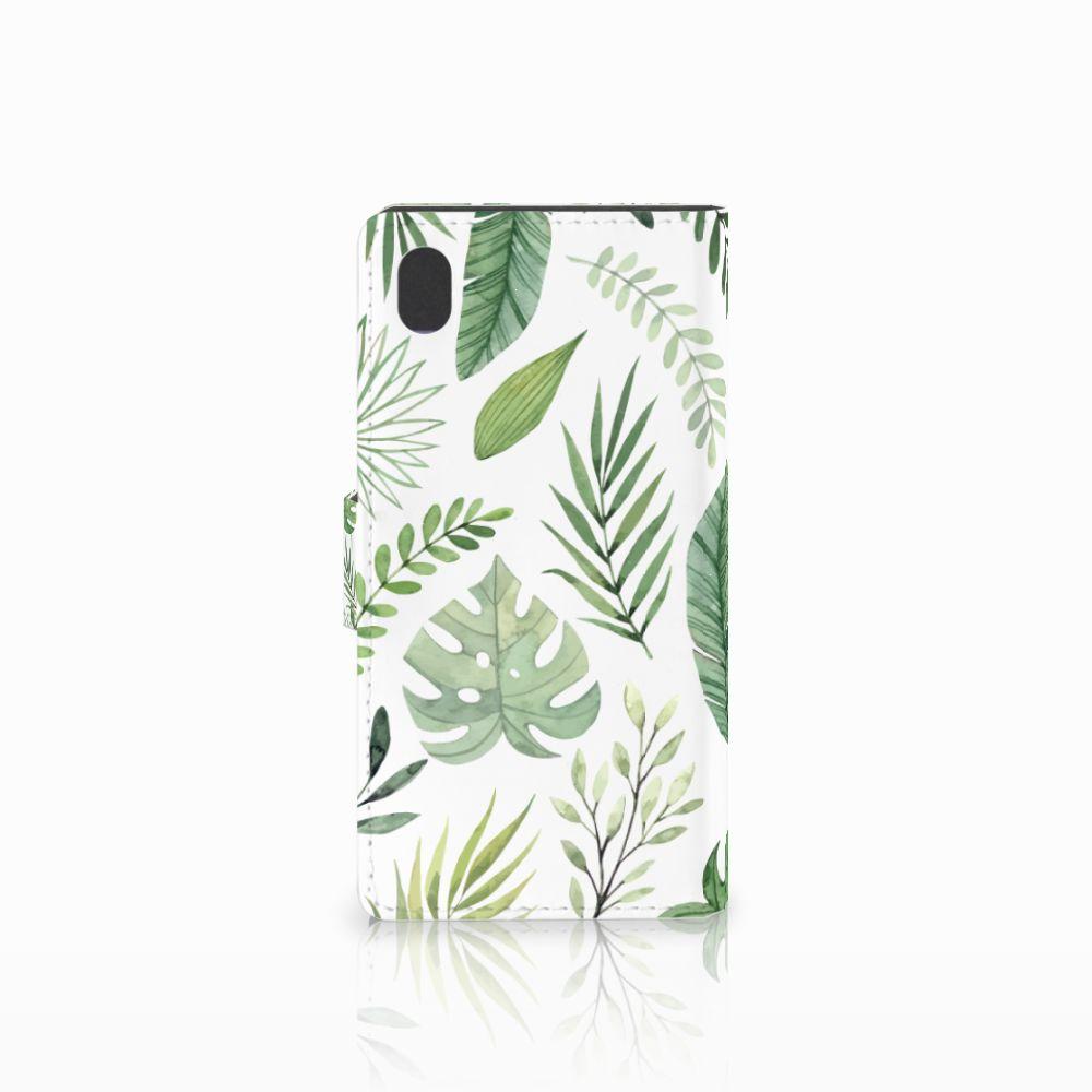 Sony Xperia M4 Aqua Hoesje Leaves