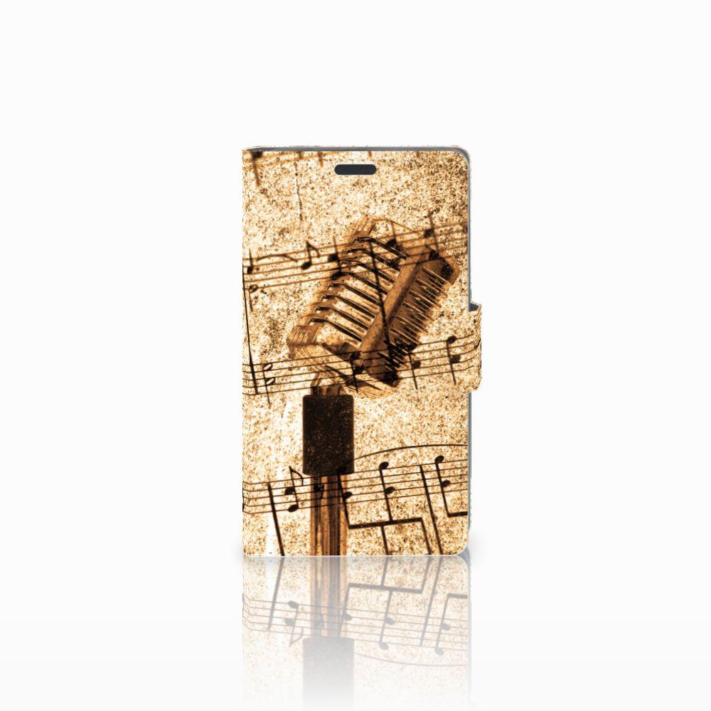Nokia Lumia 625 Uniek Boekhoesje Bladmuziek
