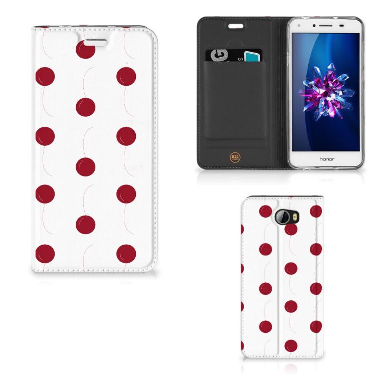 Huawei Y5 2   Y6 Compact Flip Style Cover Cherries