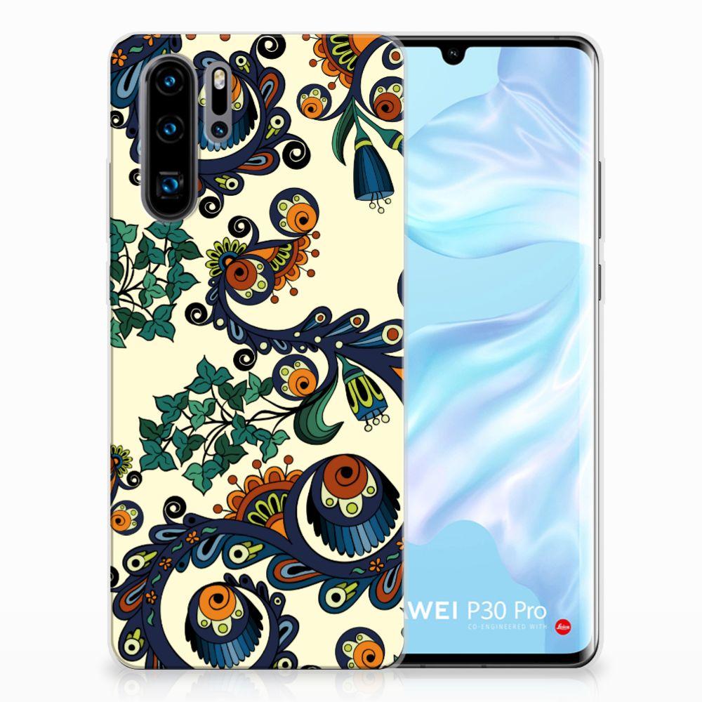 Siliconen Hoesje Huawei P30 Pro Barok Flower