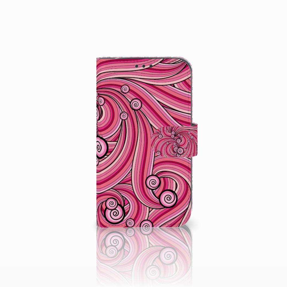 Samsung Galaxy Xcover 4 Uniek Boekhoesje Swirl Pink