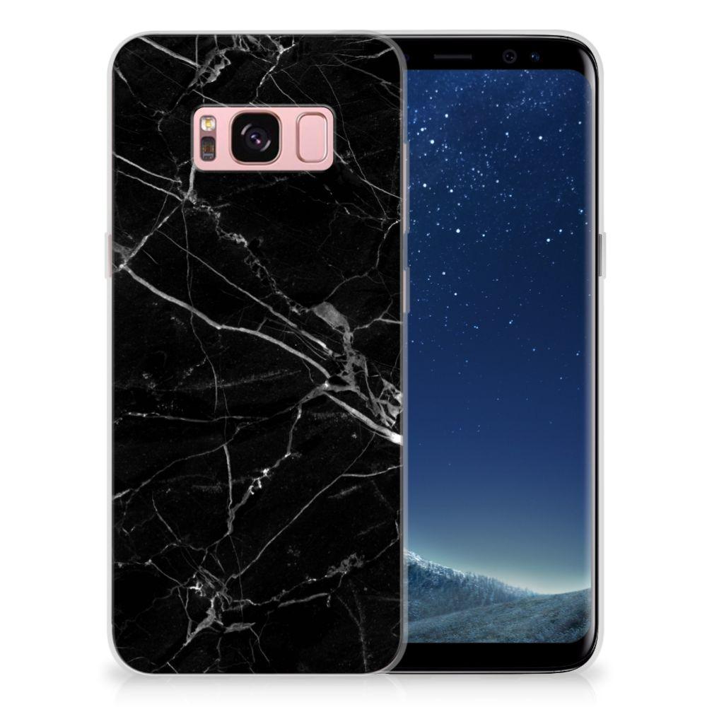 Samsung Galaxy S8 TPU Hoesje Marmer Zwart