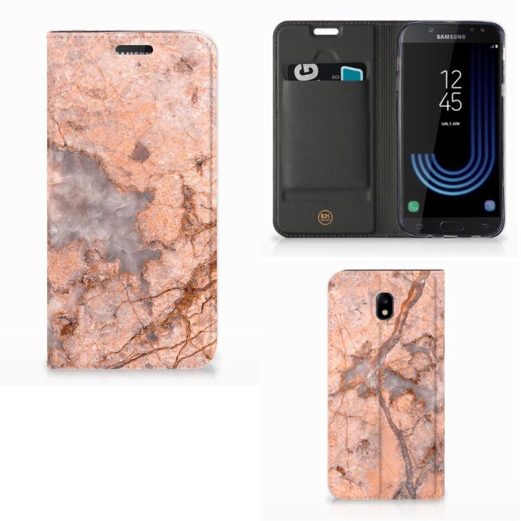 Samsung Galaxy J5 2017 Standcase Marmer Oranje