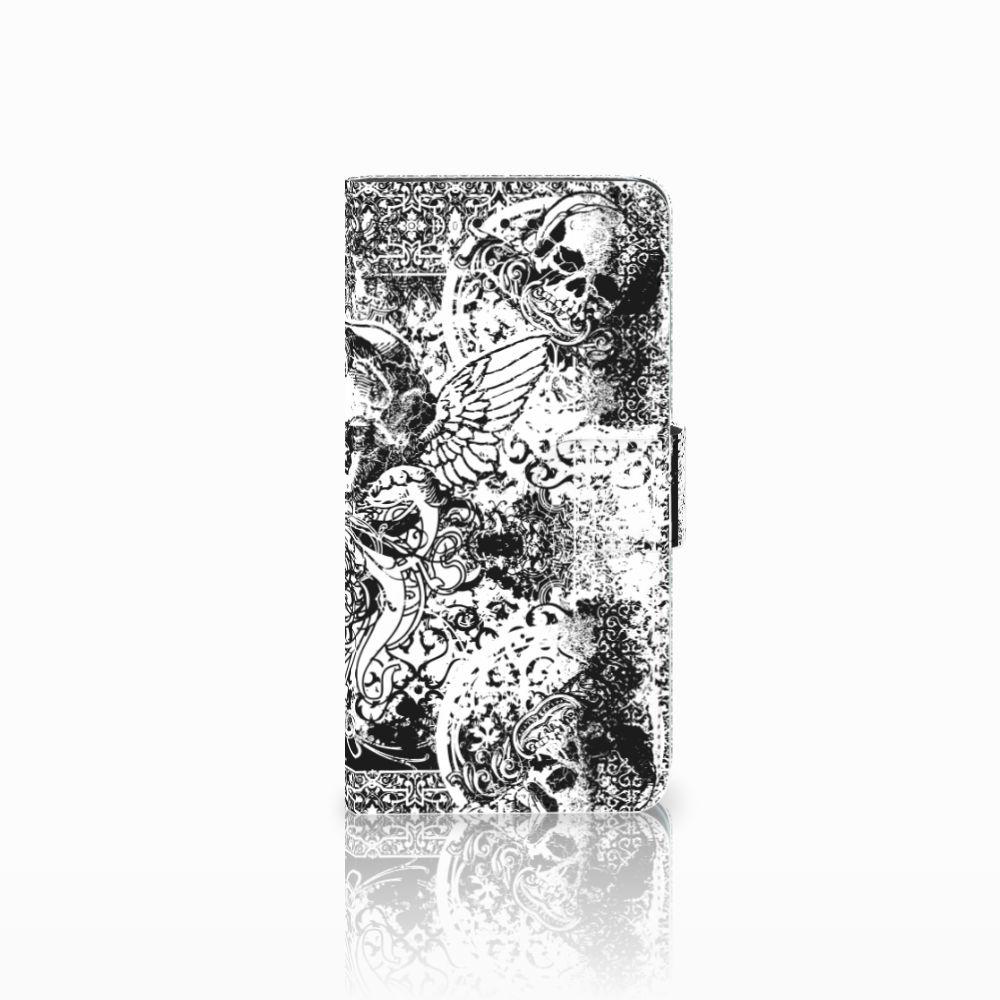 Huawei Y5 2018 Boekhoesje Design Skulls Angel