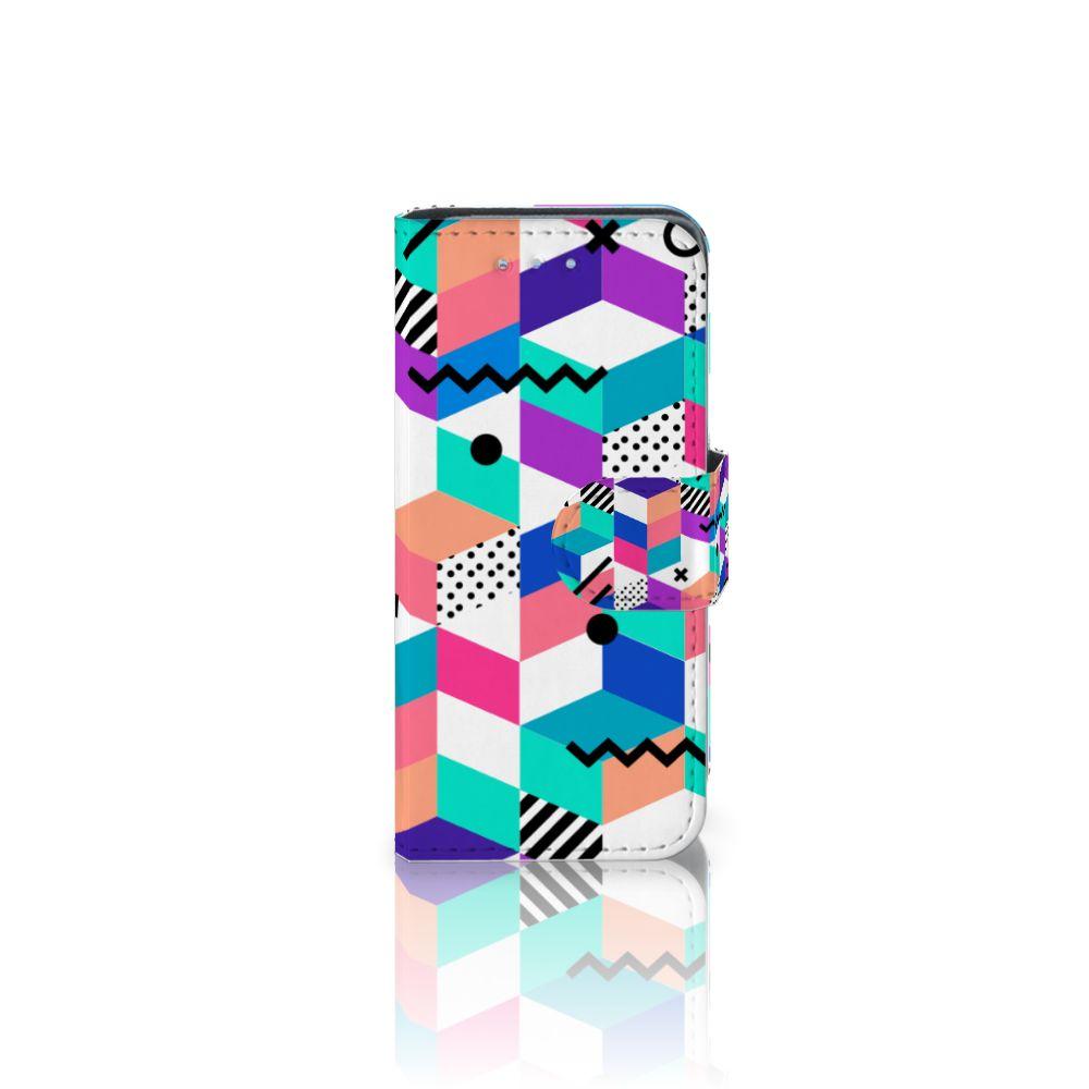 Samsung Galaxy S4 Mini i9190 Bookcase Blokken Kleurrijk