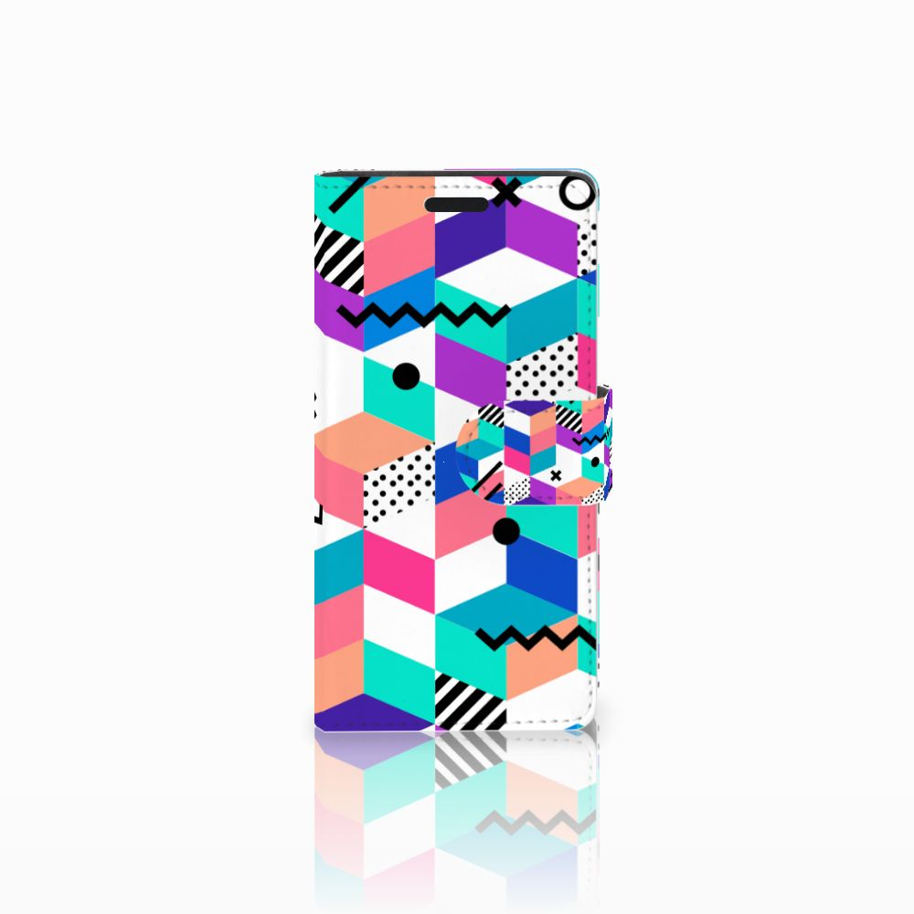 LG Leon 4G Boekhoesje Design Blocks Colorful
