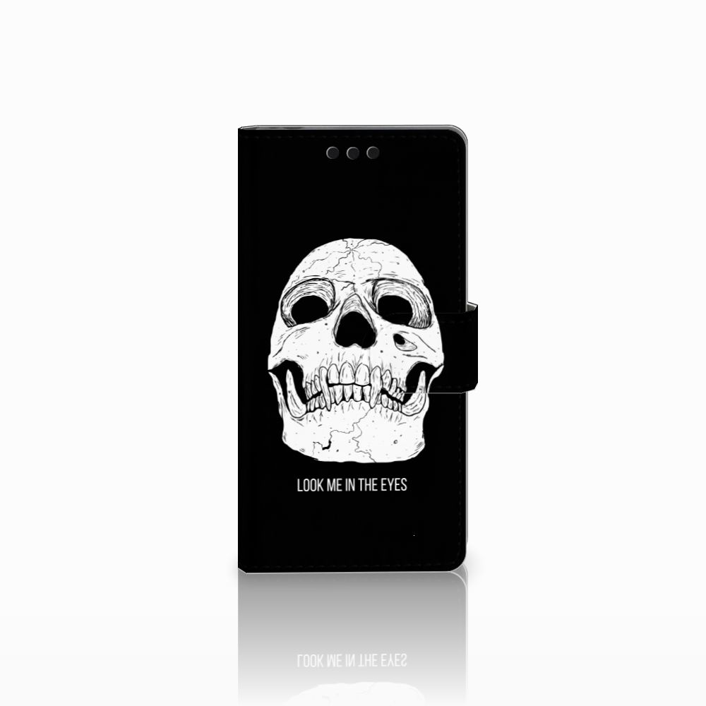 Sony Xperia M4 Aqua Uniek Boekhoesje Skull Eyes