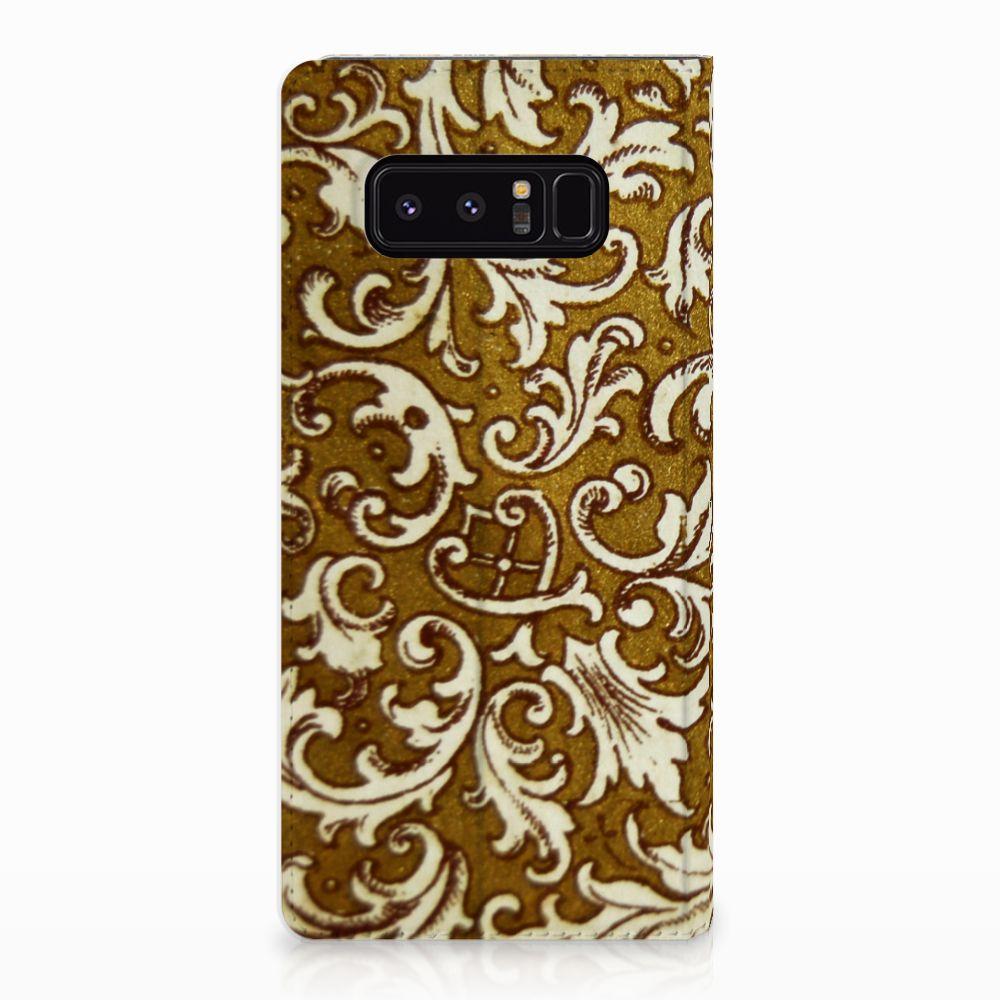 Telefoon Hoesje Samsung Galaxy Note 8 Barok Goud