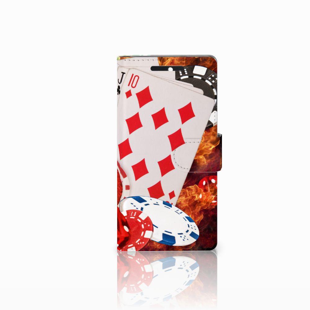 HTC Desire 628 Uniek Boekhoesje Casino