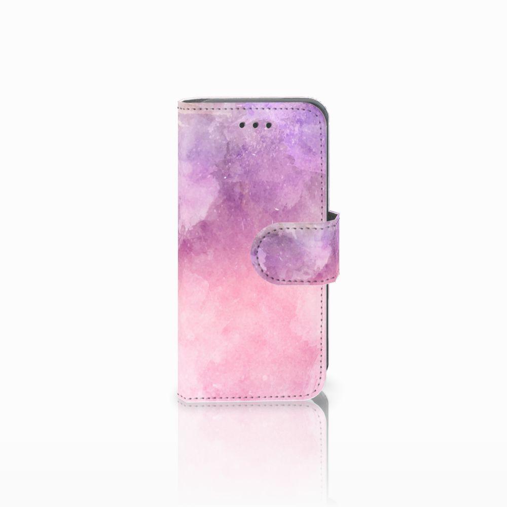 Apple iPod Touch 5 | 6 Boekhoesje Design Pink Purple Paint