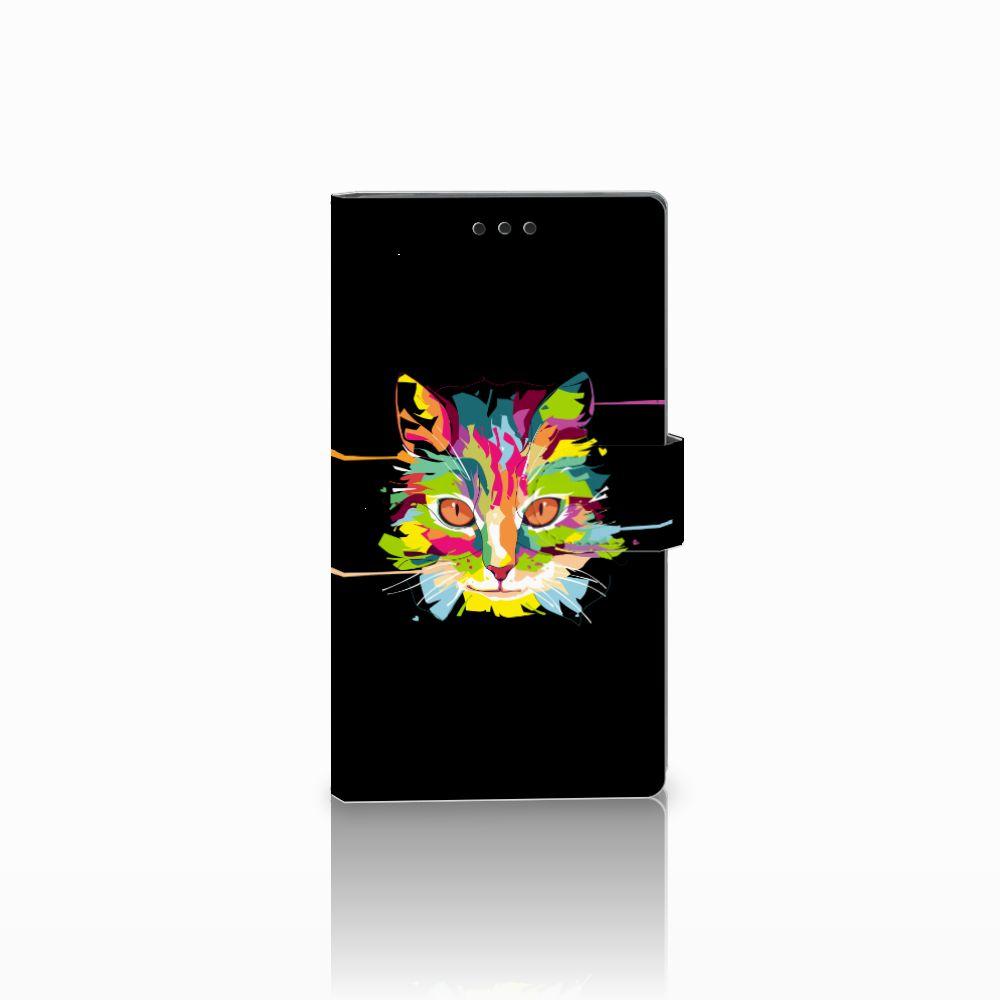 Sony Xperia L2 Uniek Boekhoesje Cat Color