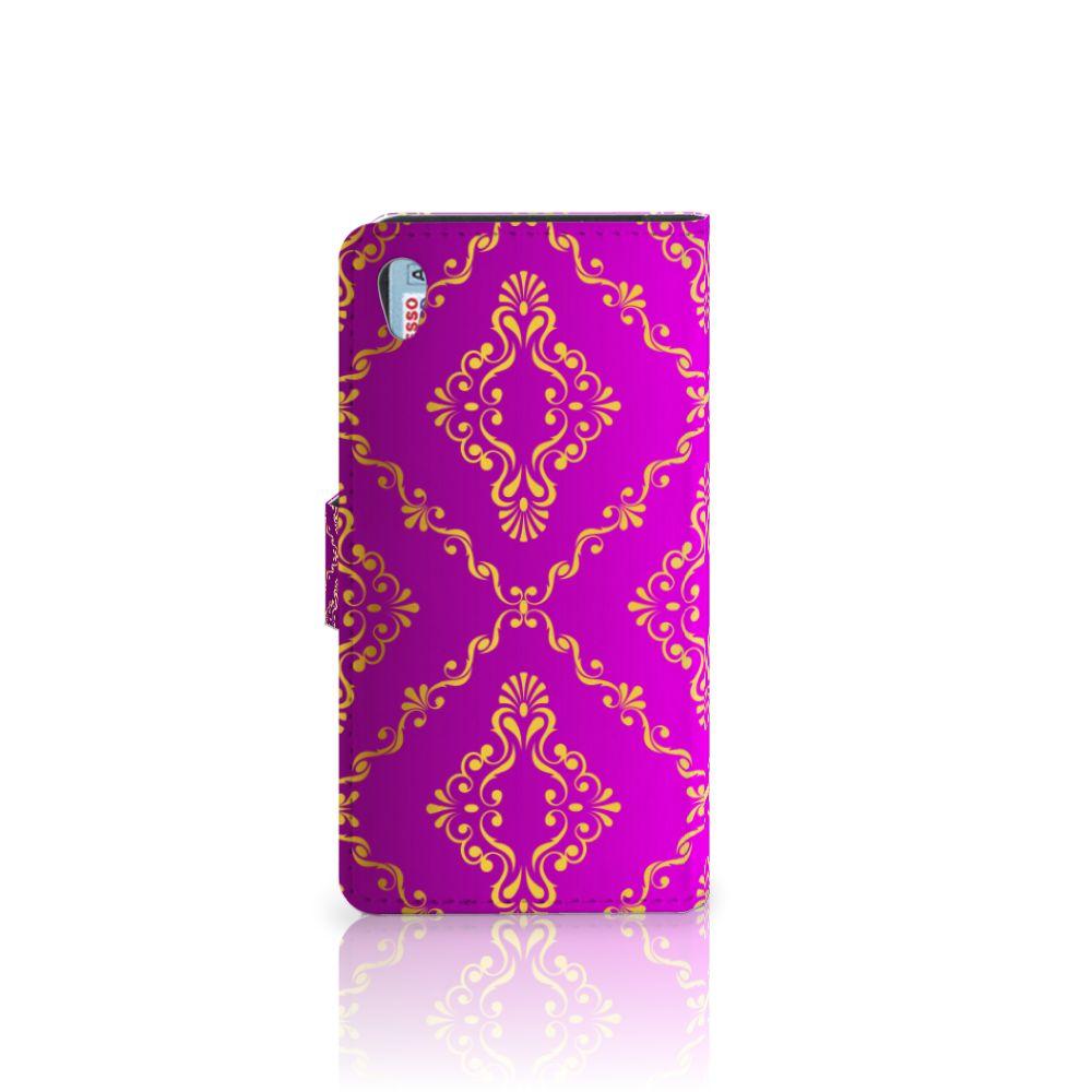 Wallet Case Sony Xperia Z2 Barok Roze