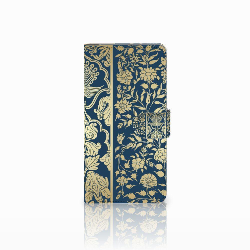 Samsung Galaxy J7 (2018) Boekhoesje Golden Flowers