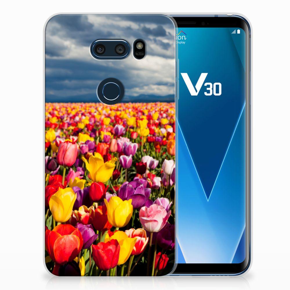 LG V30 Uniek TPU Hoesje Tulpen