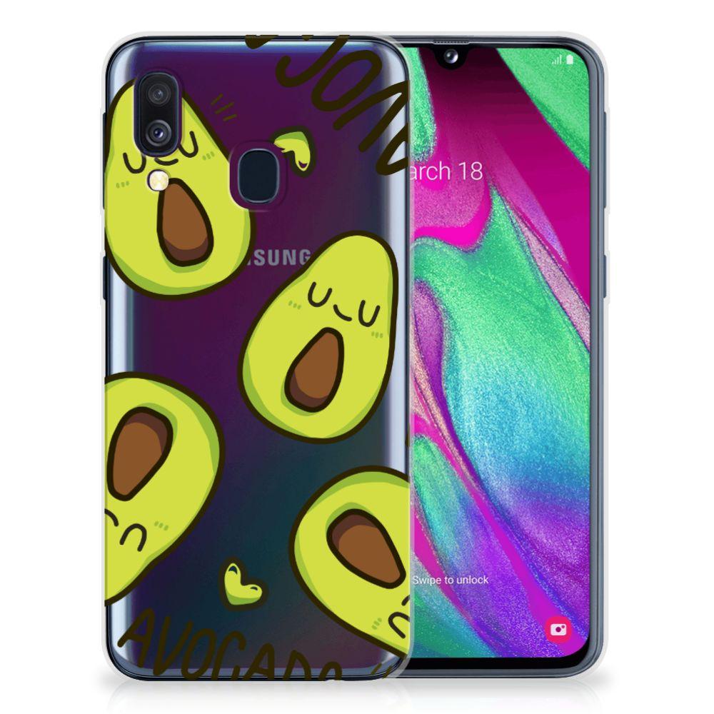 Samsung Galaxy A40 Telefoonhoesje met Naam Avocado Singing