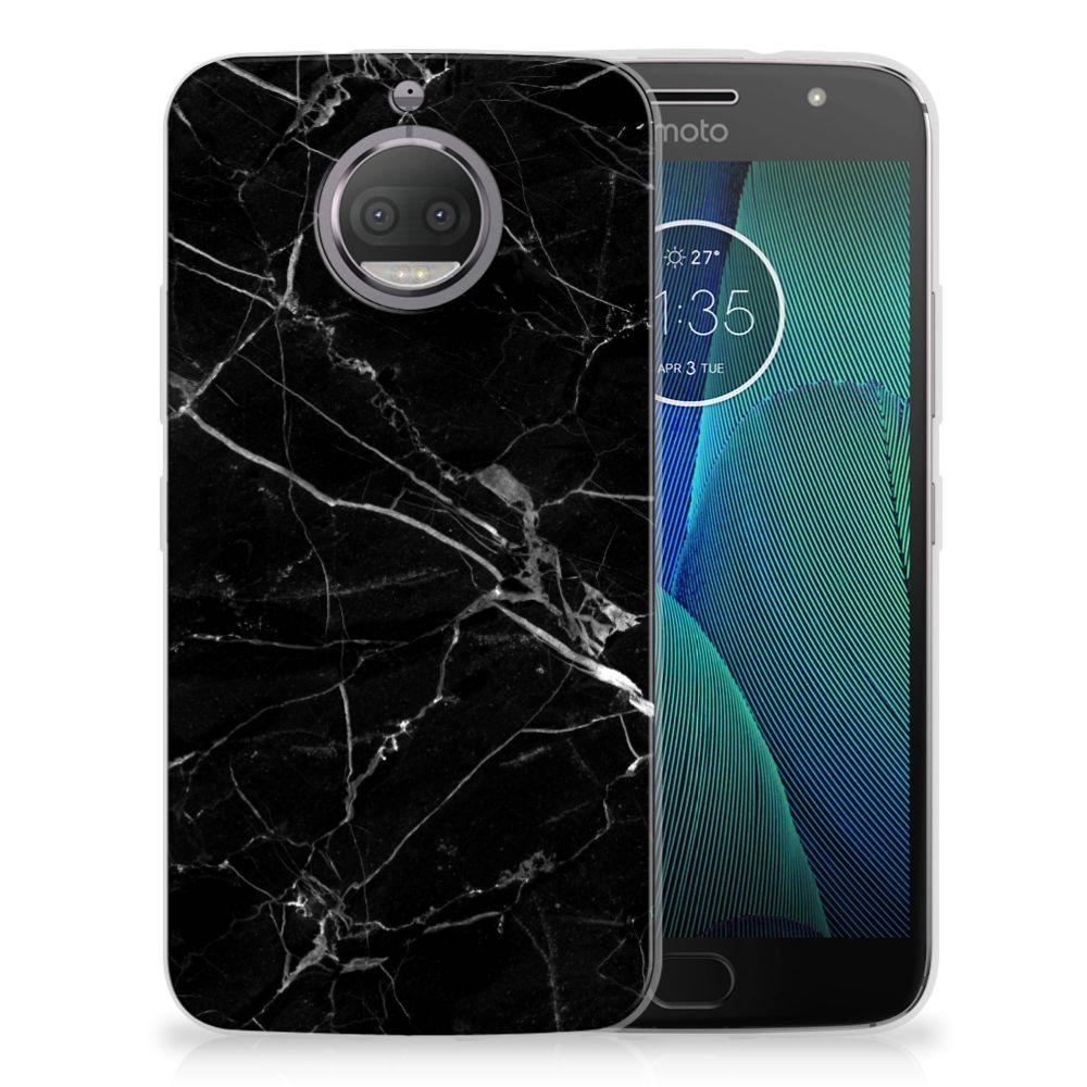 Motorola Moto G5S Uniek TPU Hoesje Marmer Zwart