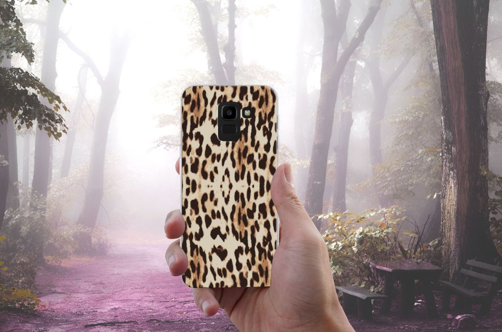 Samsung Galaxy J6 2018 Uniek TPU Hoesje Leopard