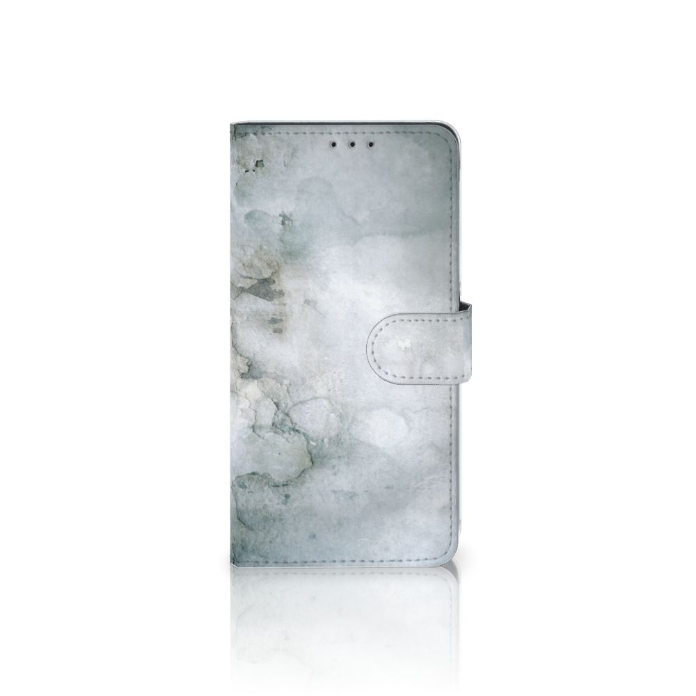 Samsung Galaxy A8 Plus (2018) Uniek Boekhoesje Painting Grey