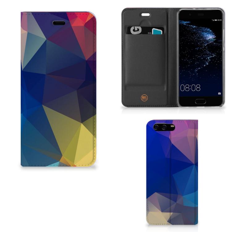 Huawei P10 Stand Case Polygon Dark