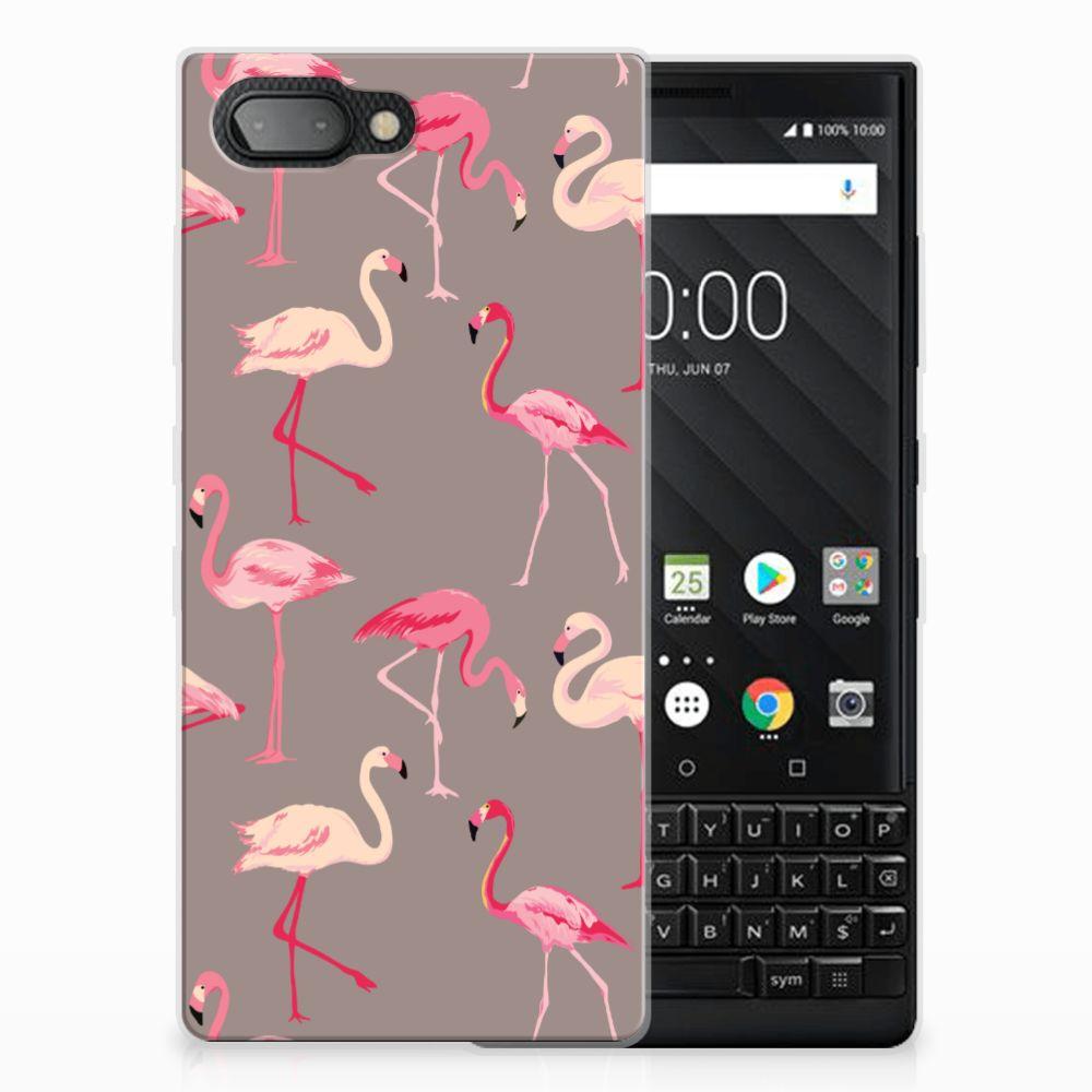 BlackBerry Key2 Uniek TPU Hoesje Flamingo