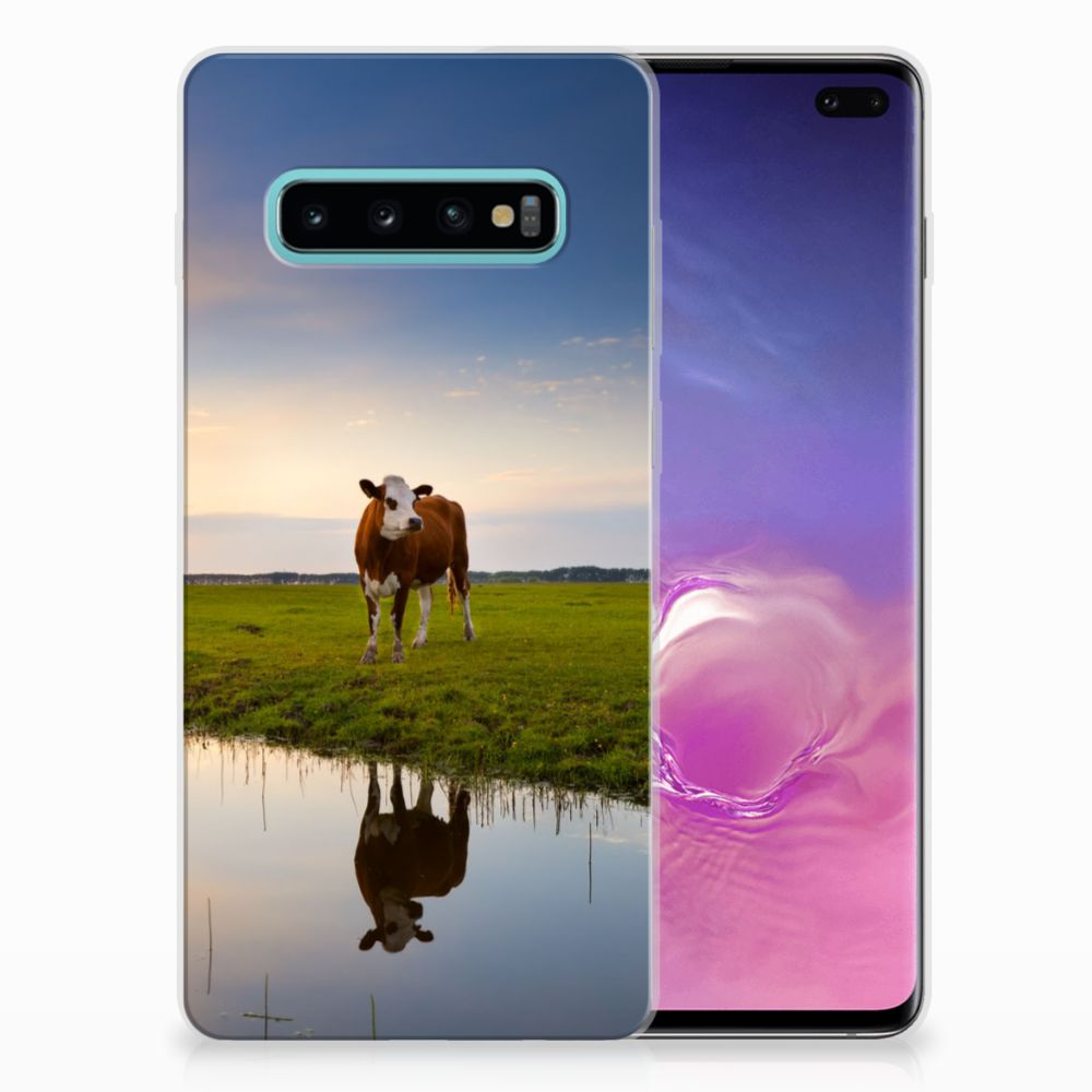 Samsung Galaxy S10 Plus TPU Hoesje Design Koe
