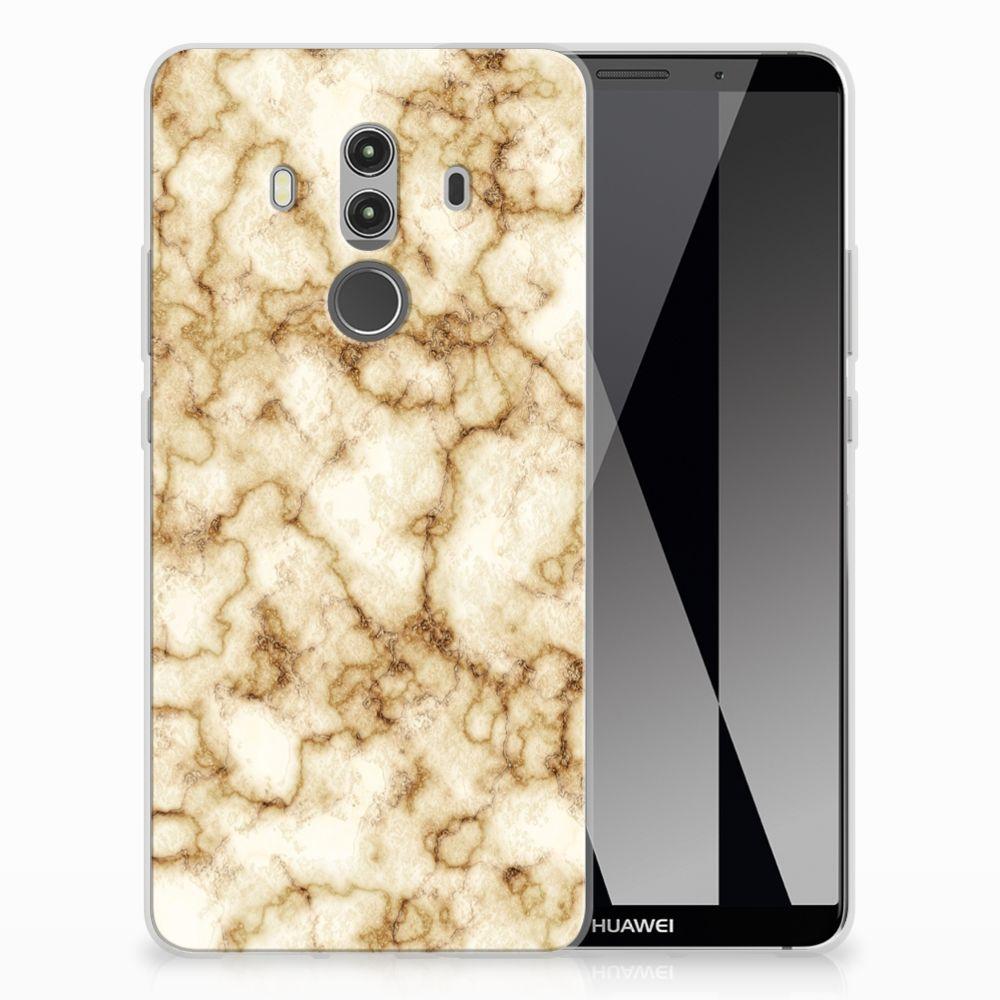 Huawei Mate 10 Pro TPU Siliconen Hoesje Marmer Goud