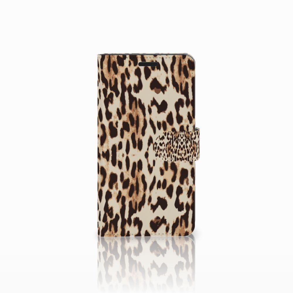 Sony Xperia T3 Uniek Boekhoesje Leopard