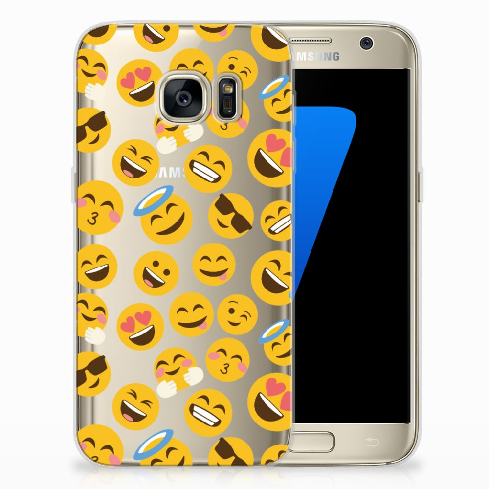 Samsung Galaxy S7 TPU Hoesje Design Emoji