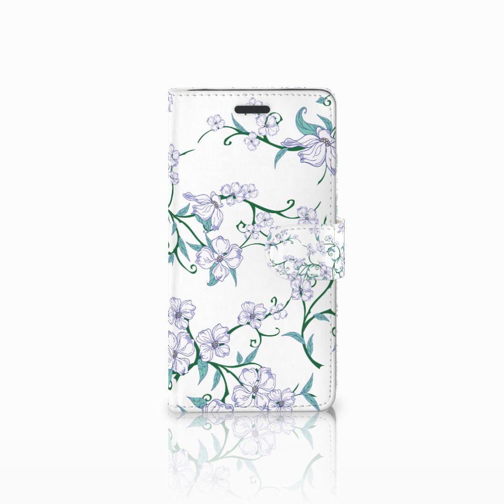 Samsung Galaxy Note 5 Uniek Boekhoesje Blossom White