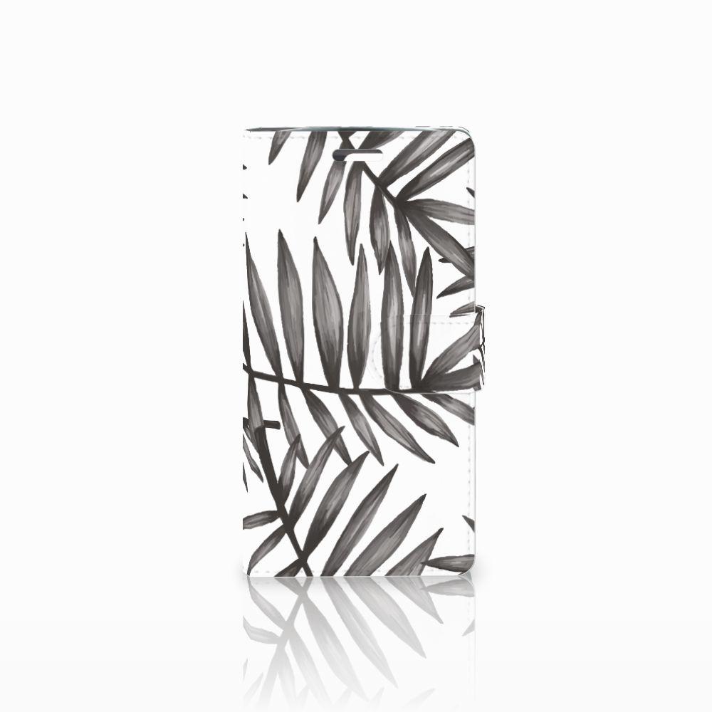 LG K10 2015 Uniek Boekhoesje Leaves Grey