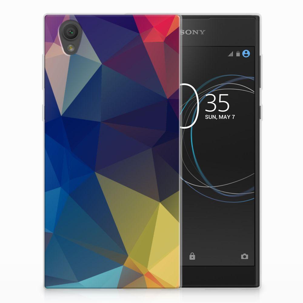 Sony Xperia L1 TPU Hoesje Polygon Dark