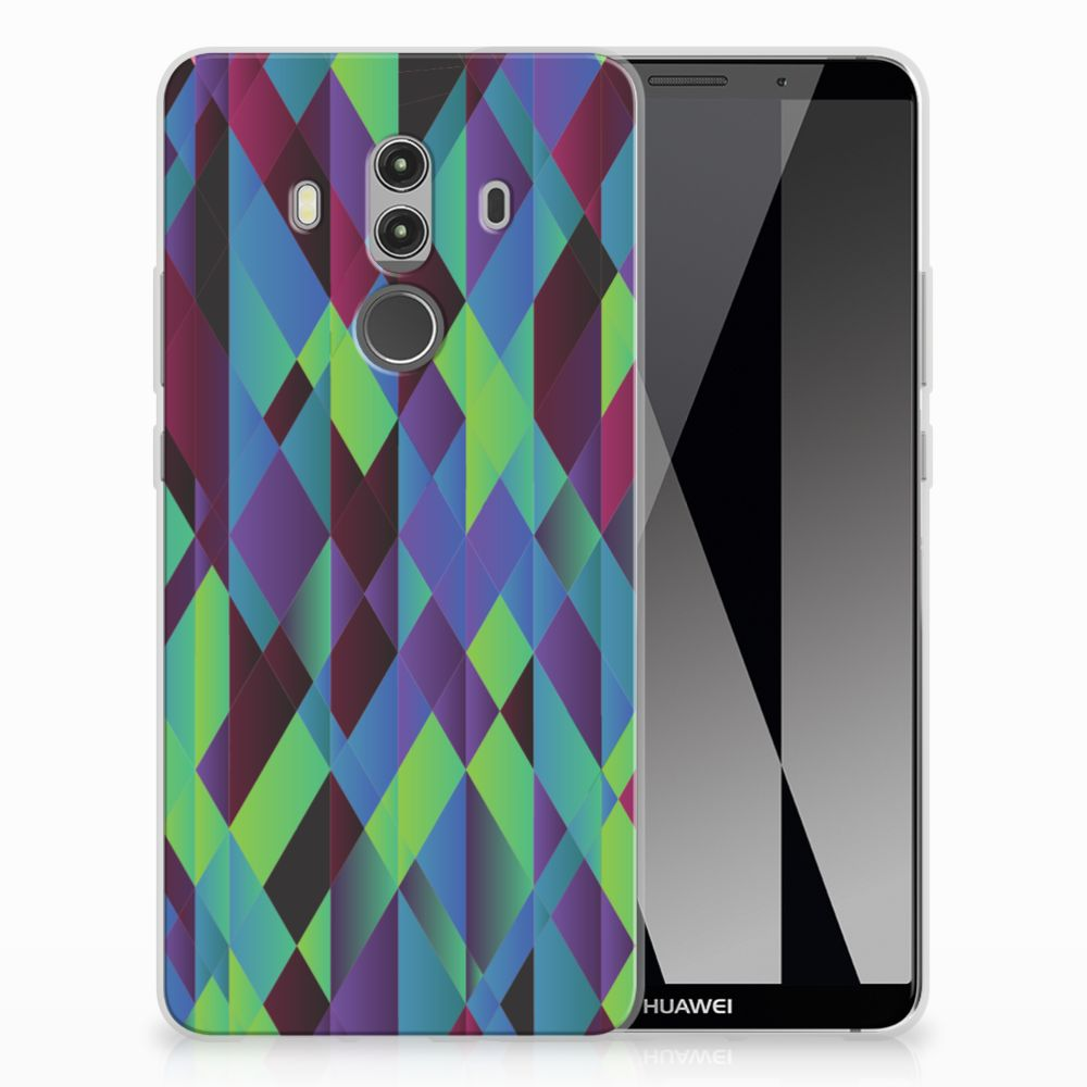 Huawei Mate 10 Pro TPU Hoesje Design Abstract Green Blue